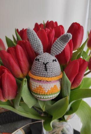 Dekoracja Wielkanocna, królik Wielkanocny, ręcznie robiona zabawka