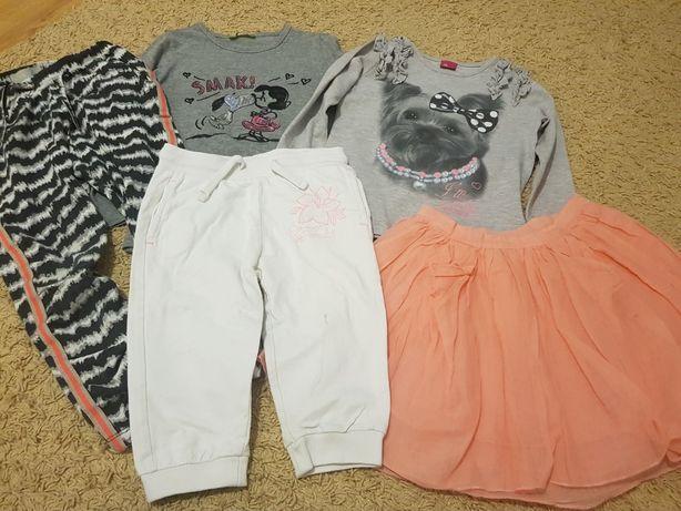 Bluzeczki spodnie sukienka r.104