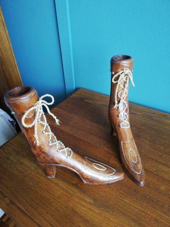 Sapatos de madeira- decoração