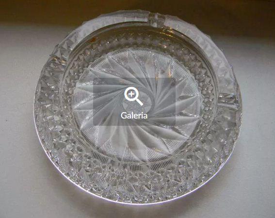 Popielniczka kryształowa duża
