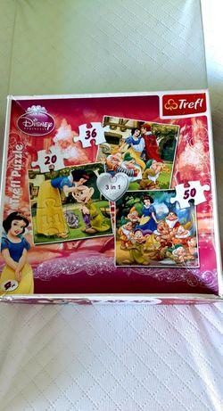 Puzzle 3 w 1, Disney zamienię za chusteczki