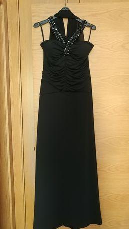 Vestido preto comprido