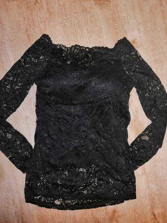Bluzka koronka czarna