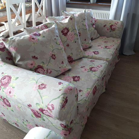 Sofa z fotelem i pufa.OBNIZKA!!!