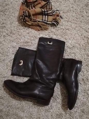 Vera gomma.фирменные итальянские кожаные сапоги. размер 37.