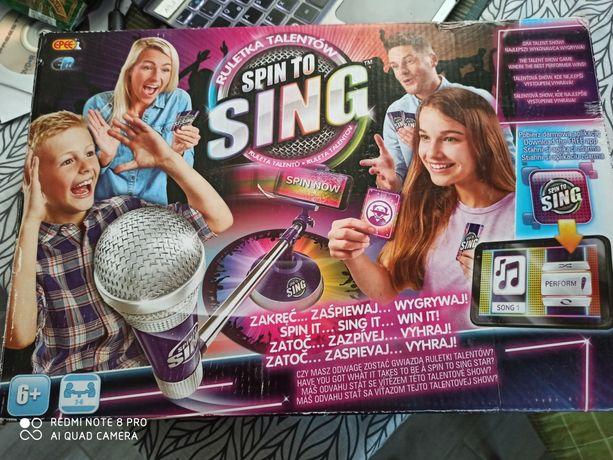 Interaktywna gra spin to sing