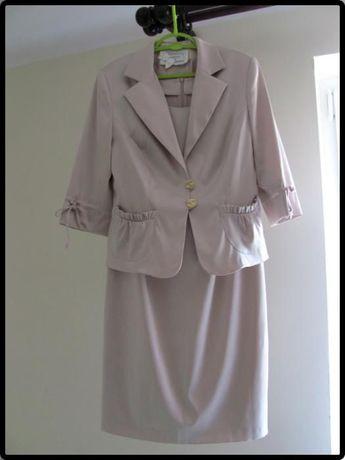 Śliczny komplet sukienka z marynarką rozmiar 40