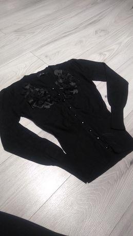 Sweter czarny z guzikami