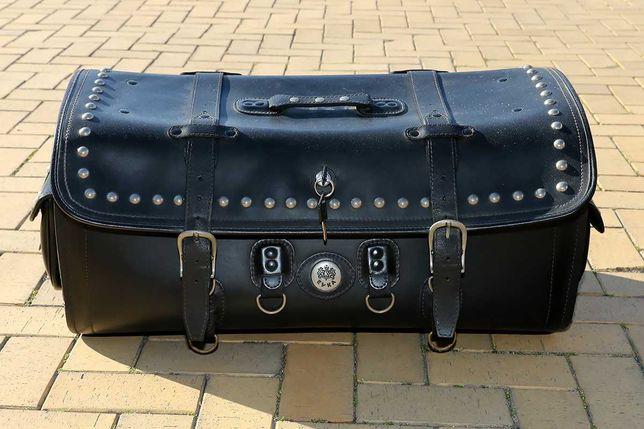 Skórzany kufer torba bagażnik na motor Evka