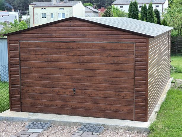 Garaż Blaszany 4x5 Blaszak Wzmocniony Garaże blaszane PRODUCENT