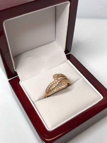 złoty masywny pierścionek 14ct 2,40g R:20