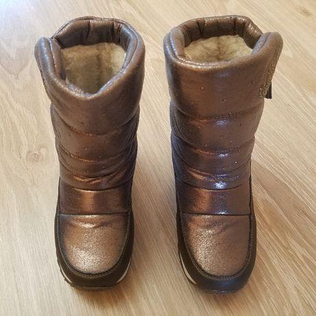 Зимовi чобiтки дутiки Совенок 29розмiр.Чобiтки синього кольору.