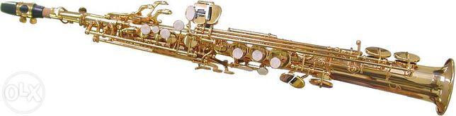 Saxofone soprano dourado velho marca Karl Glaser