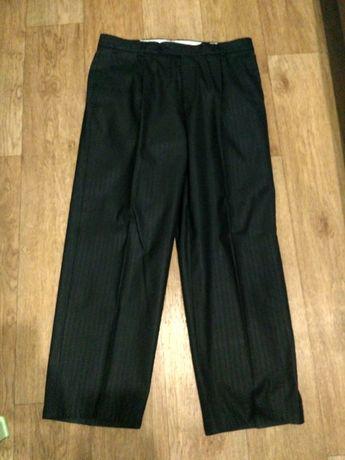 Классические брюки в полоску, утепленные, с начесом, Lusien. С