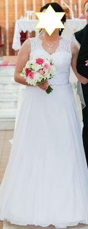 suknia ślubna rozm 42 biała
