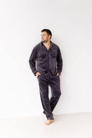 Мужская пижама плюш, 3 цвета