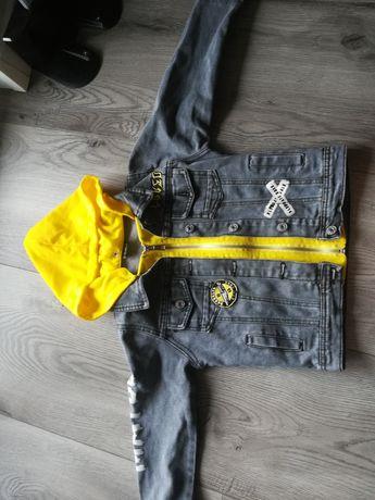 R. 110 116 Jeansowa kurteczka dla chłopca jak nowa