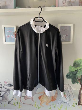 NOWA bluza męska Reebok XXL czarna poliestrowa oldschool streetwear