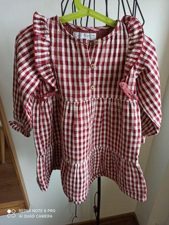 Sukienka kratka vichy ZARA r. 104