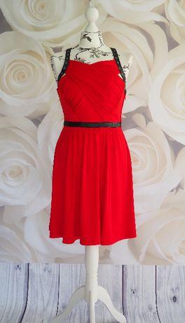 Guess_czerwona sukienka wizytowa_rozmiar S