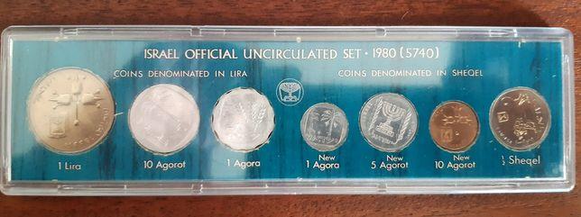 7 moedas de Israel transição