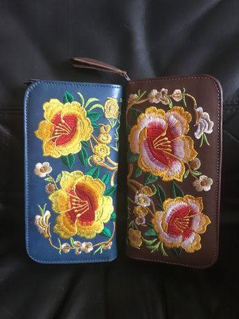 Кожаный кошелёк  в двух цветах