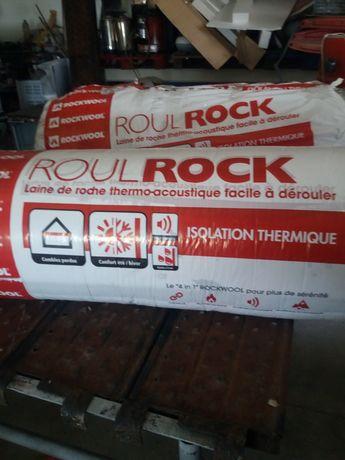 Rolos de lã de rocha com folha de alumínio