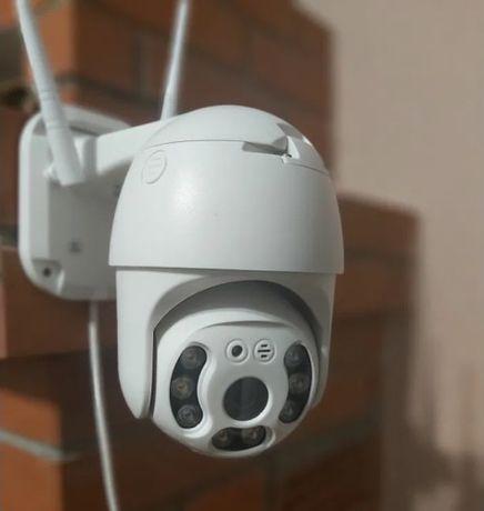 WiFi камера 1080p уличная поворотная 360 +микрофон и ИК сьемка Новинка