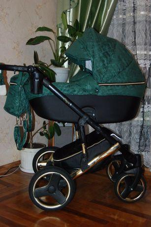 Элегантная и изысканная детская коляска MIKRUS COMODO MIEDZ 2 в 1