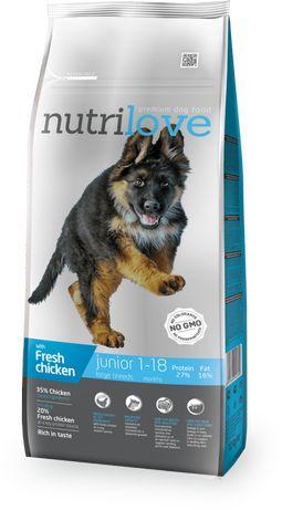 Nutrilove Dog 11471 Junior L 12Kg Kurczak
