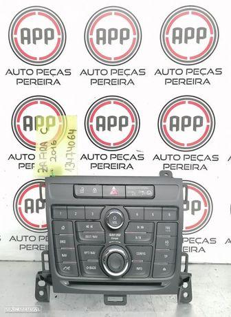 Teclado rádio, navegação, Opel Astra J de 2016 referência 13474064