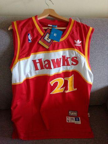 Koszulka ADIDAS XXL Dominique Wilkins 21 Atlanta Hawks NBA.