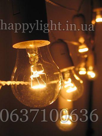 Ретро гирлянда с лампочками и гидрозащитой ip-55 гирлянды феламентные