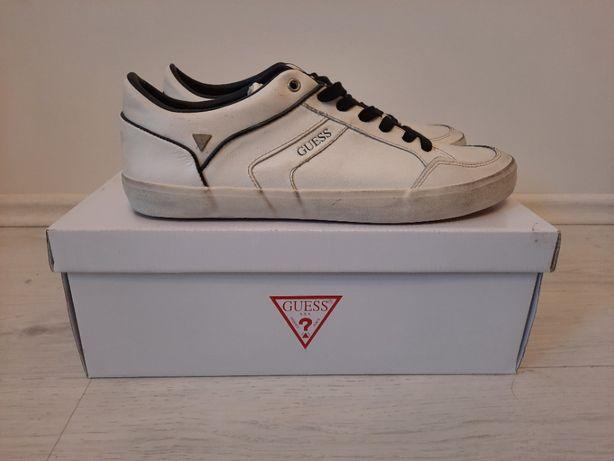 buty męskie guess białe sneakersy rozmiar 44 czarne