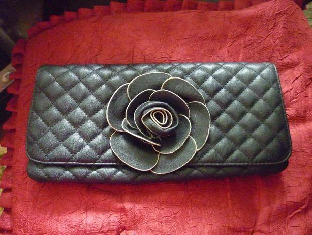Клатч стеганный черный стиль Шанель