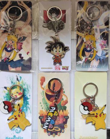 Porta Chaves DragonBall Goku Sailor Moon Pokémon Picachu Pac-Man