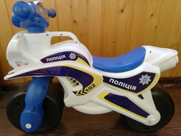 Мотоцикл каталка озвученный Долони