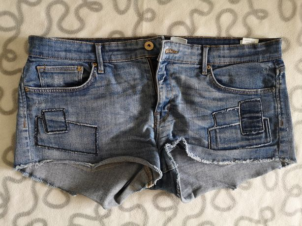 Spodenki, krótkie, jeans, H&M, r. 42