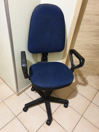 Fotel krzesło biurowe obrotowe niebieskie