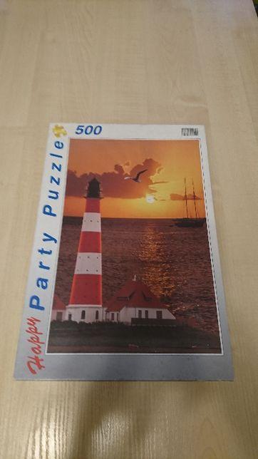 Puzzle 500 elementów - latarnia na Morzu Północnym