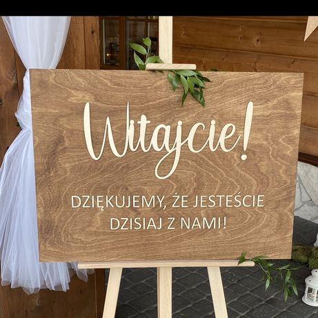 Tablica weselna witajcie boho rustykalna