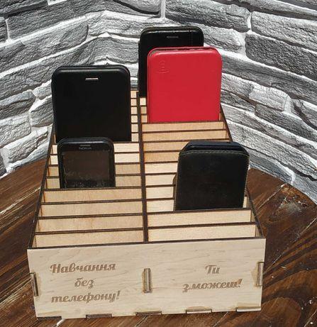 Підставка-органайзер для телефонів(28 комірок). Органайзер в школу
