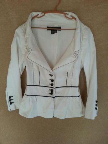Пиджак, жакет шикарный белый, zara, блейзер с баской,