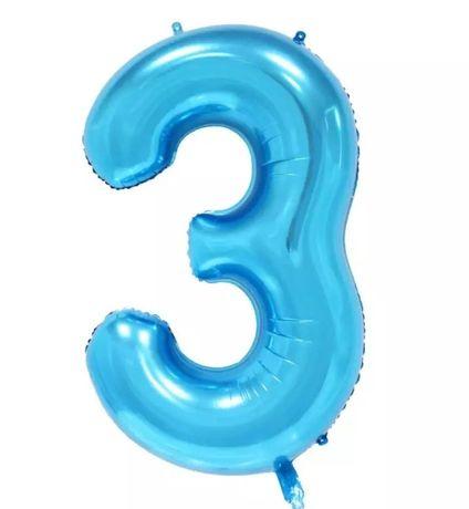 2 x Balon na Hel 3 trzecie urodziny dla chłopca dziecka kinderparty