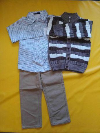 Нарядний костюм сорочка рубашка светр штани брюки