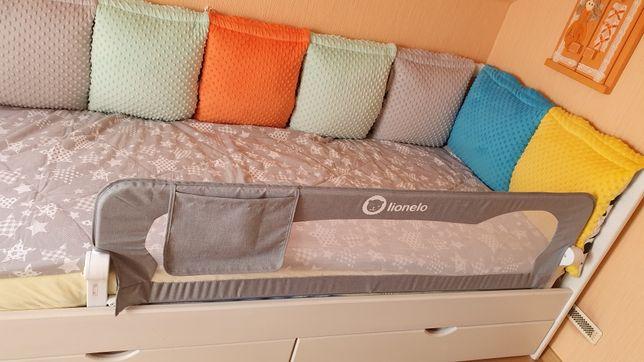 LIONELO składana barierka do łóżka dla dziecka