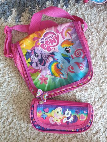 Różowa torebka i piórnik My Little Pony Kucyki