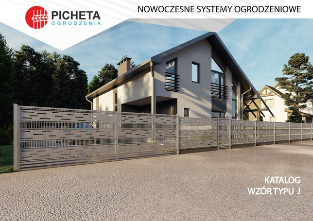 Ogrodzenie nowoczesne Ogrodzenia palisadowe poziome z blachy