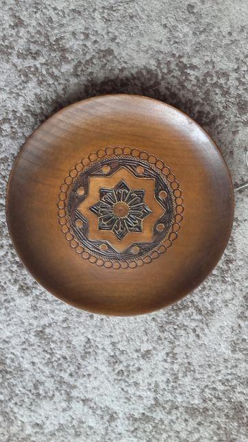 Talerz ozdobny drewniany ozdobny drewno ozdoba