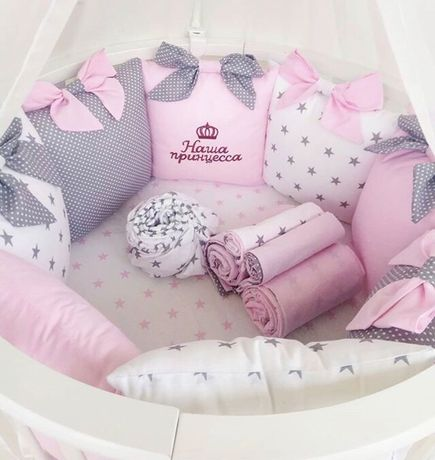 Бортики защита постіль дитяча постель детская конверт кокон балдахін